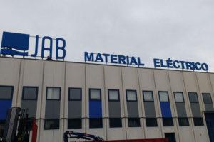 rótulo jab material eléctrico