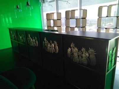 Barra del bar de la empresa Espublico Tecnología