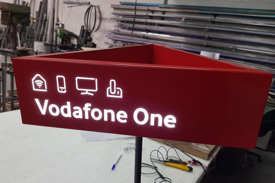 rótulo vodafone one